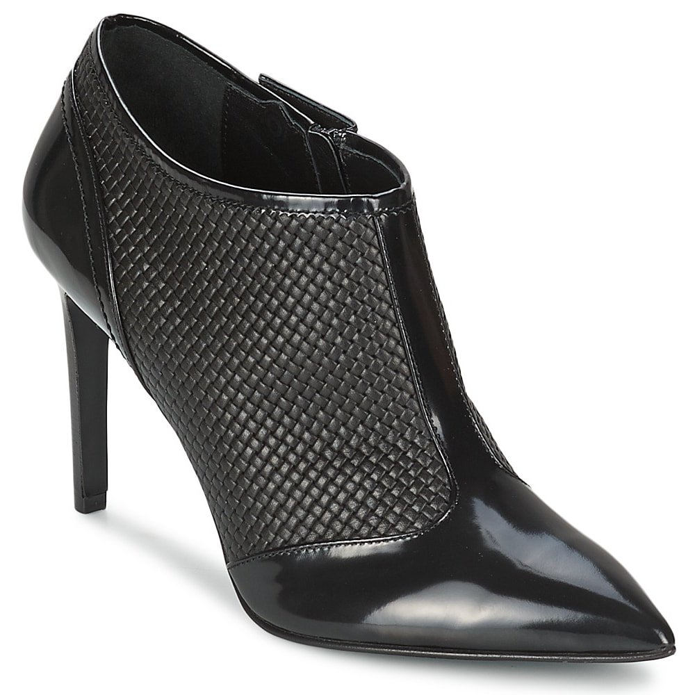 Hugo Boss BOSS 'Lula' black leather ankle boots