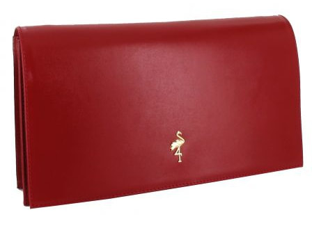 Menbur 'Malva' red leather clutch bag