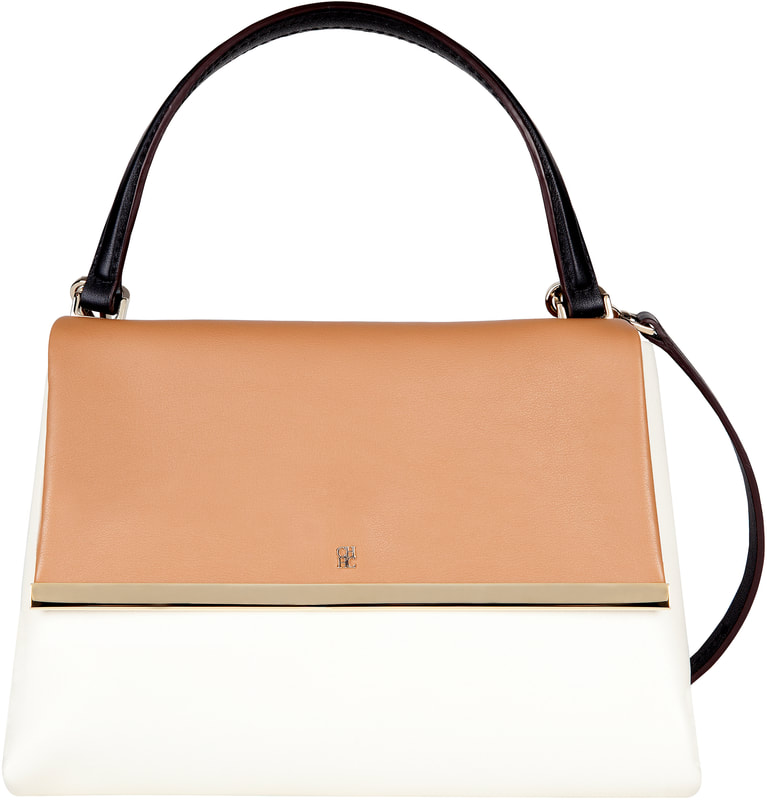 Carolina Herrera Camelot color block handbag
