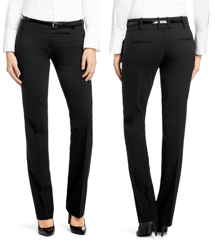 Hugo Boss Taru black straight leg trouser pants