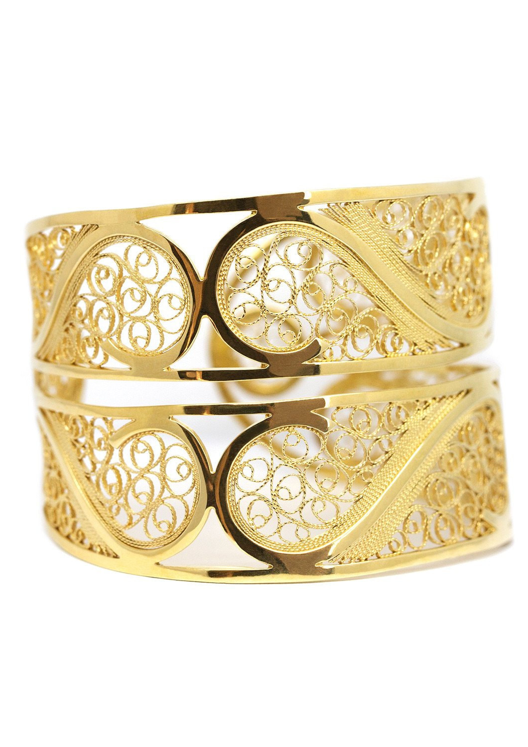 Arabel Lebrusan Filigree Links Bangle