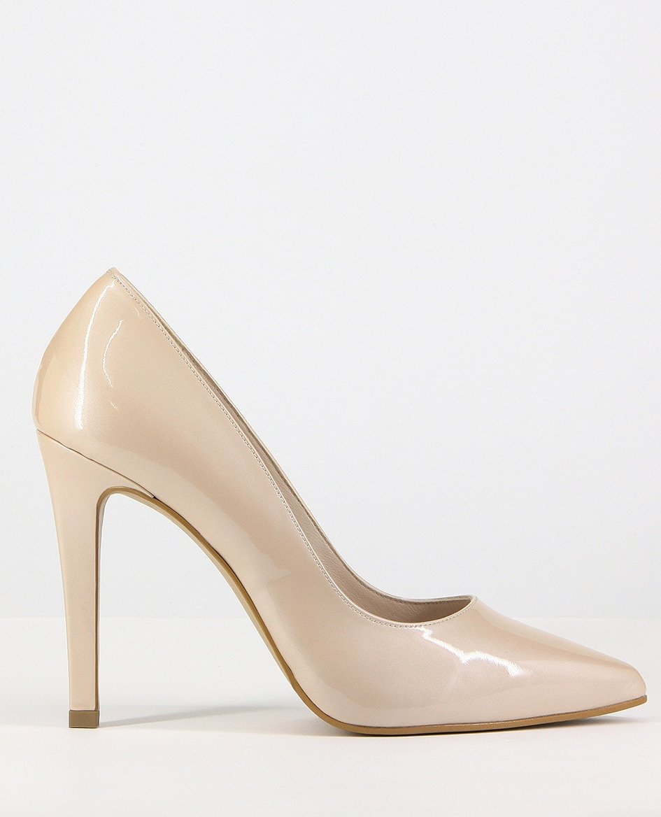 LODI Saray nude patent leather pumps