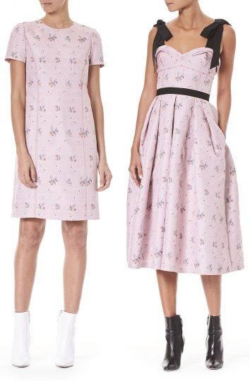 Carolina Herrera Pink Orchid Print Dresses Pre-Fall 2018 collection