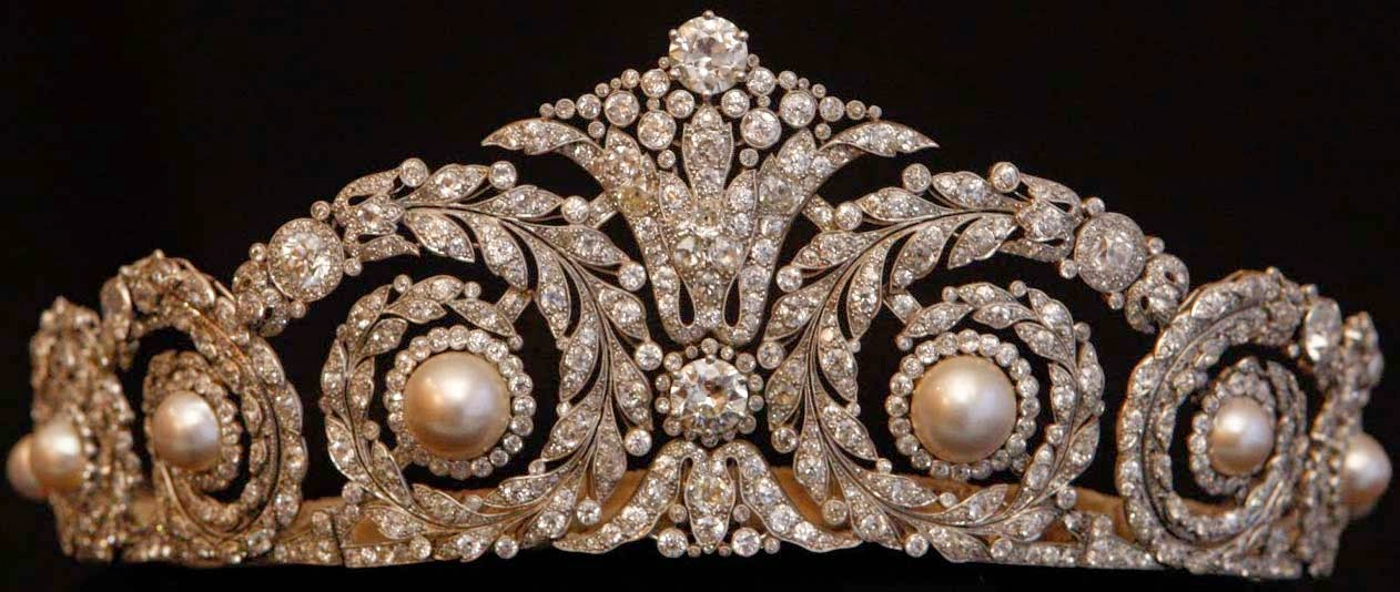 Cartier Pearl and Diamond Tiara