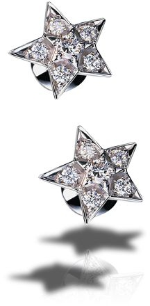 Chanel Comete diamond star stud earrings