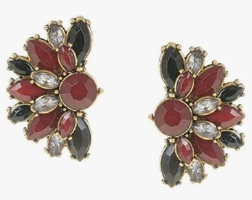 Parfois multi-stone Garden Blooms earrings 140756