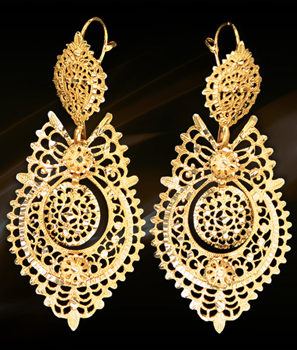 Ourivesaria Freitas Portuguese Queen Earrings