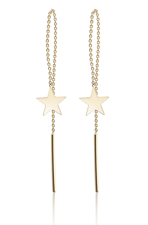 Gold & Roses Milky Way earrings