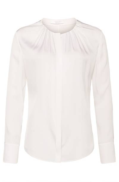 Hugo Boss BOSS Banora blouse in natural white