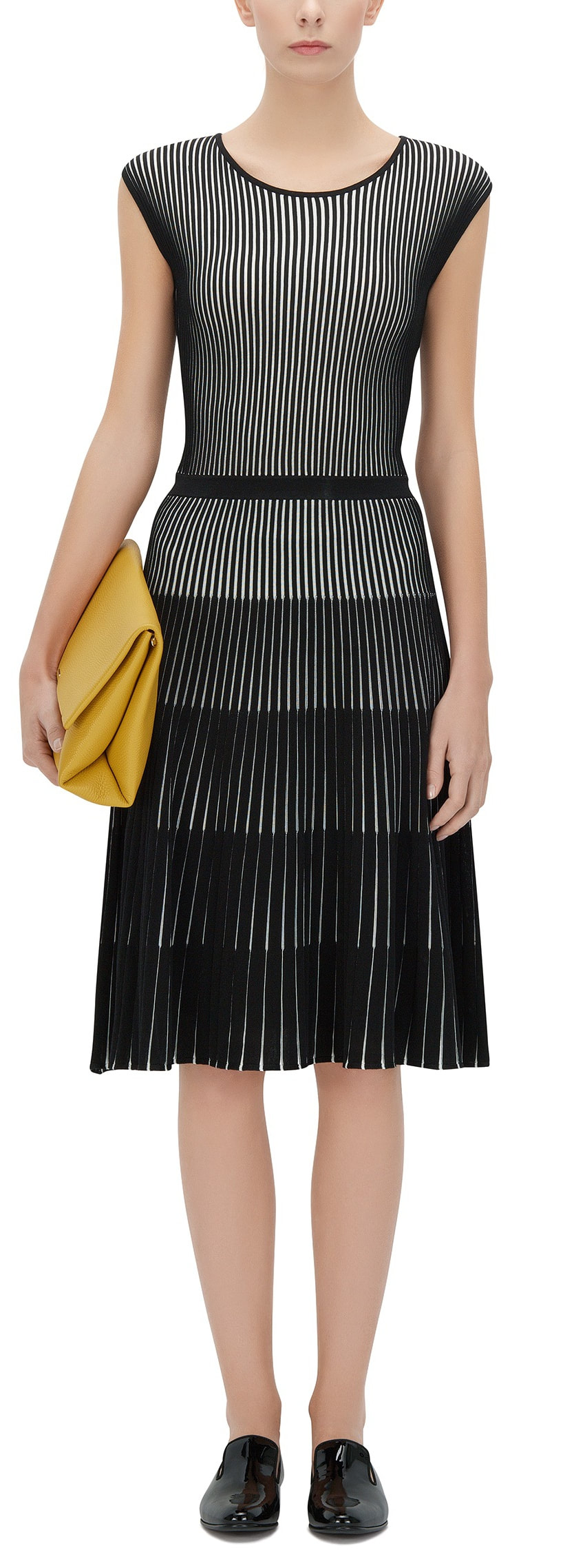 Hugo Boss Franca Black and White Stripe Dress