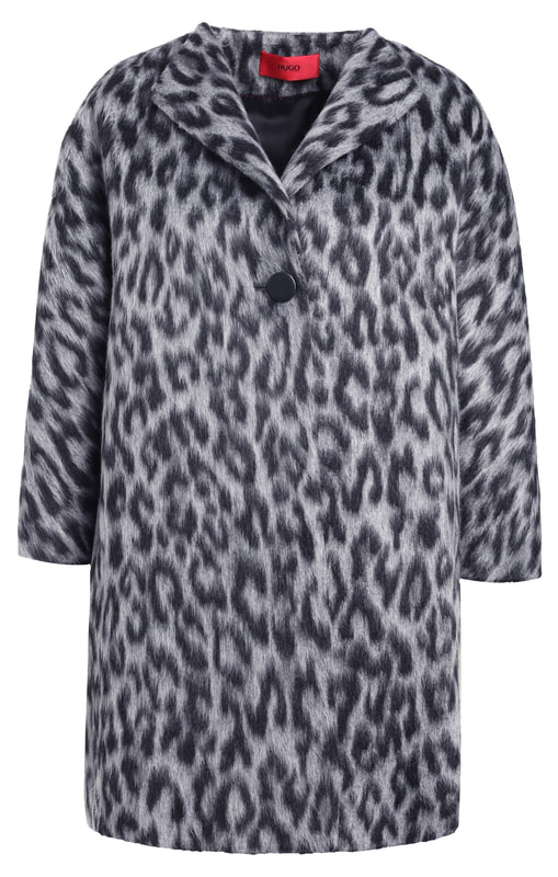 Hugo Boss HUGO Mathia cheetah-print coat