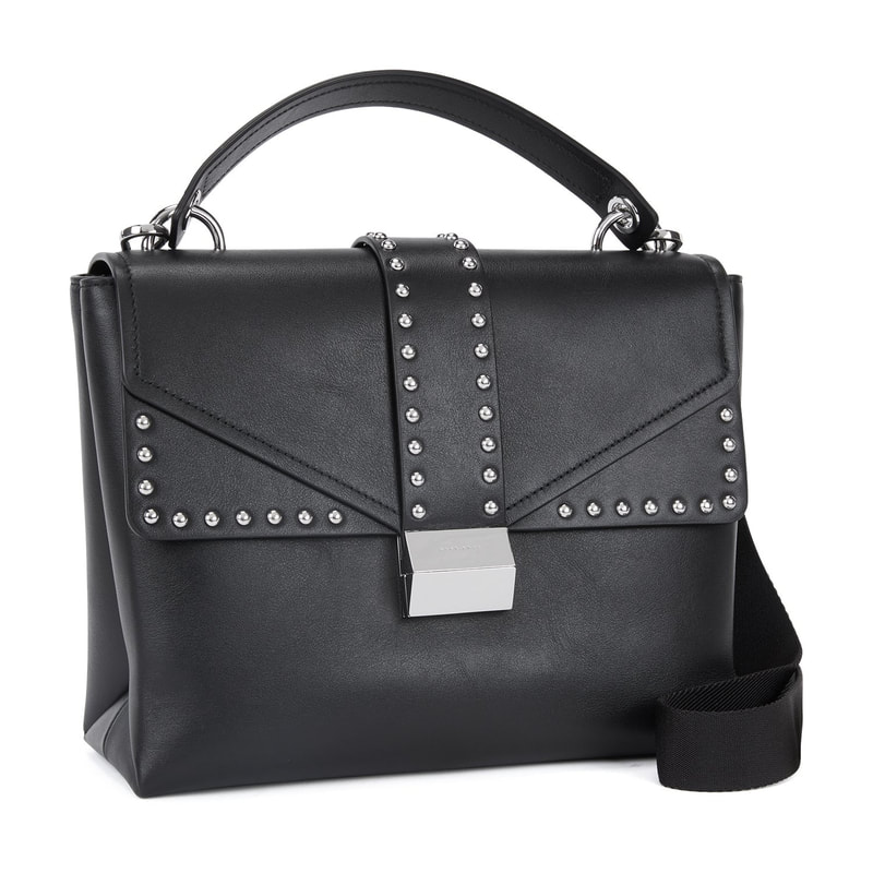 Hugo Boss Adrienne Top-Handle Bag in smooth Italian leather