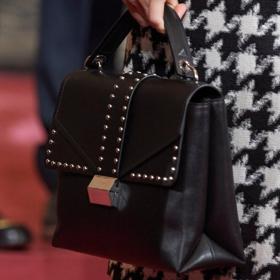 Hugo Boss Adrienne Top-Handle Bag in smooth Italian leather as seen on Queen Letizia