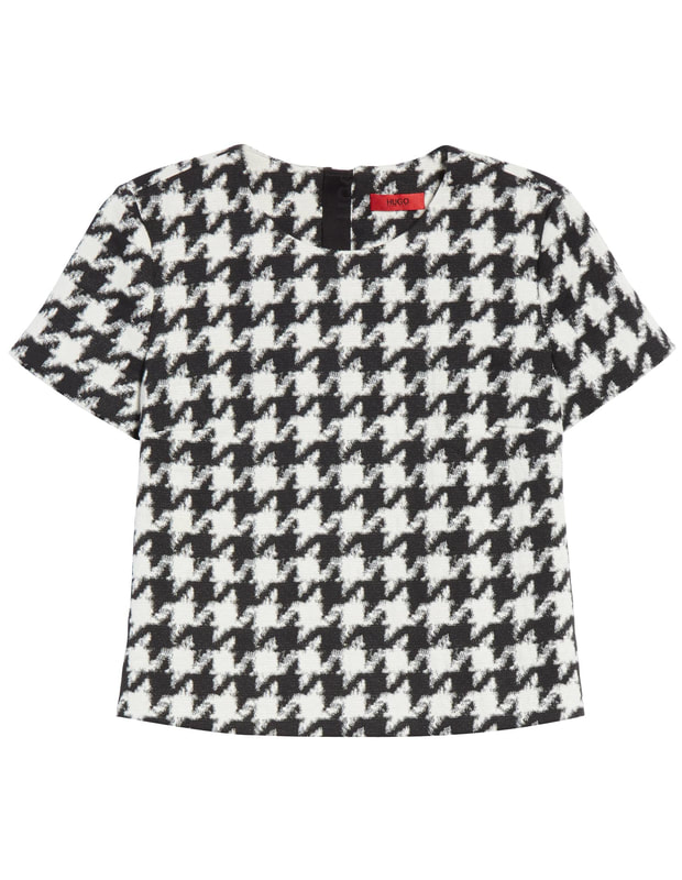 Hugo Boss Clady Houndstooth Top