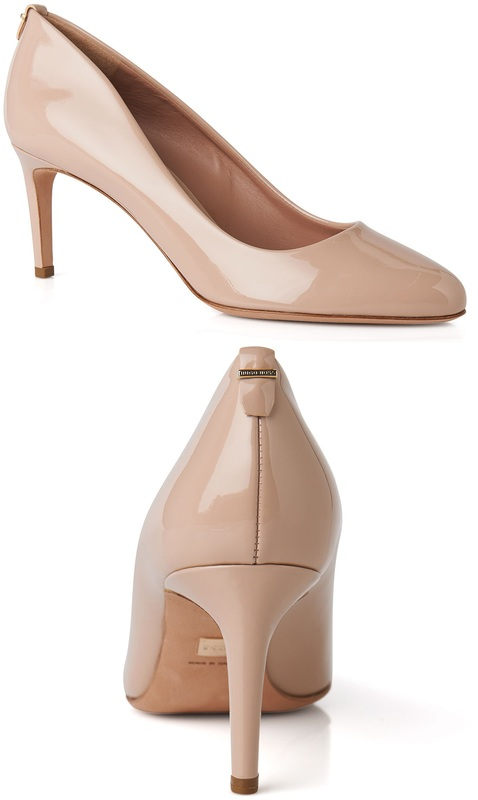 Hugo Boss Staple R70-P pumps in light beige patent-leather