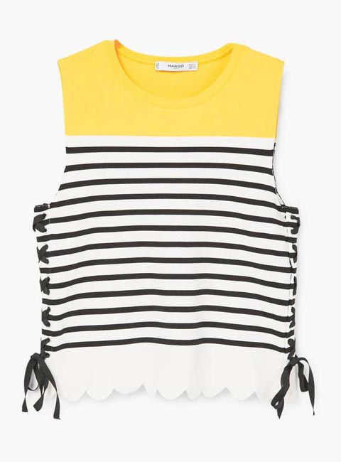 Mango Tulipa striped knit top