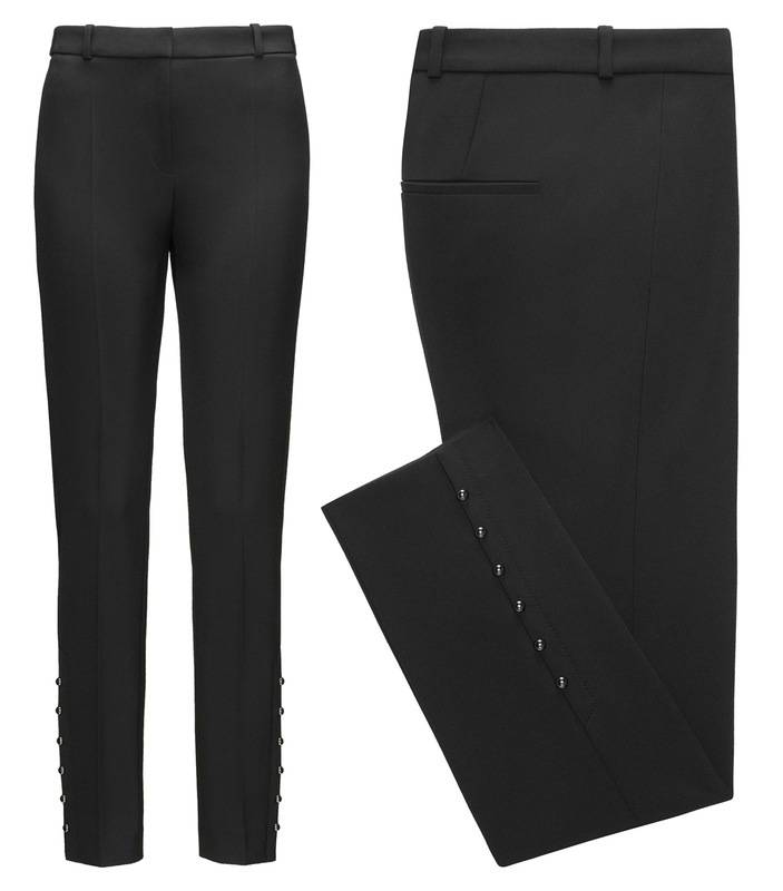 Hugo Boss HUGO Heylen slim-fit cropped trousers with pearl details