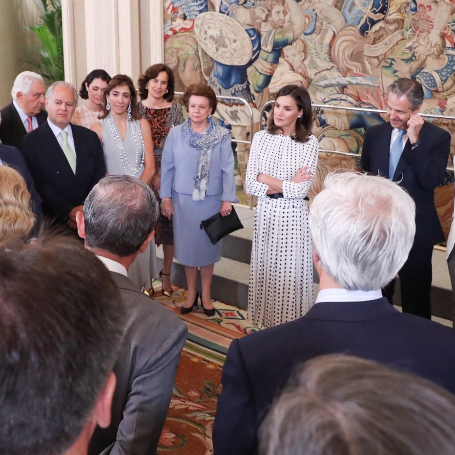 Queen Letizia attends audiences