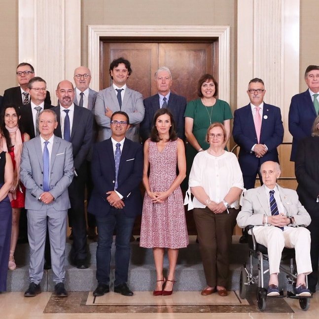 Queen Letizia audience with FEDER July 2019