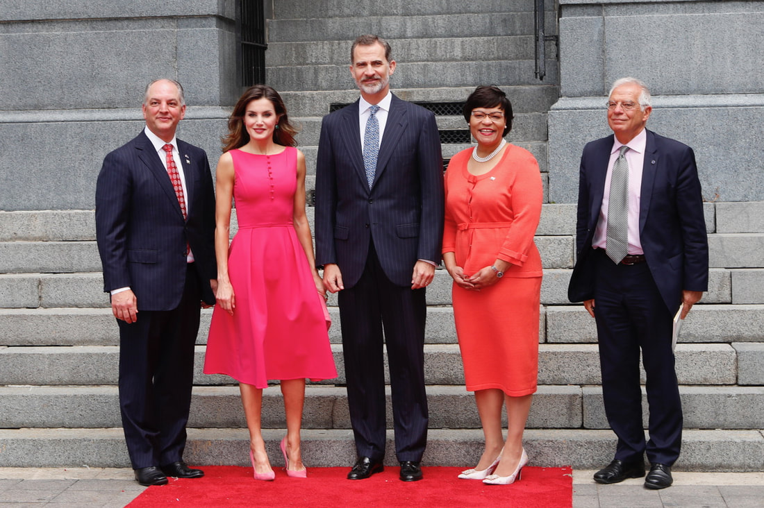King Felipe and Queen Letizia official welcome in New Orleans USA royal visit 2018