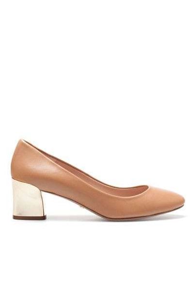 Uterque pumps with contrasting golden block heels F/W 2013/14