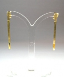 Laura Marquez 'Linear' white gold earrings