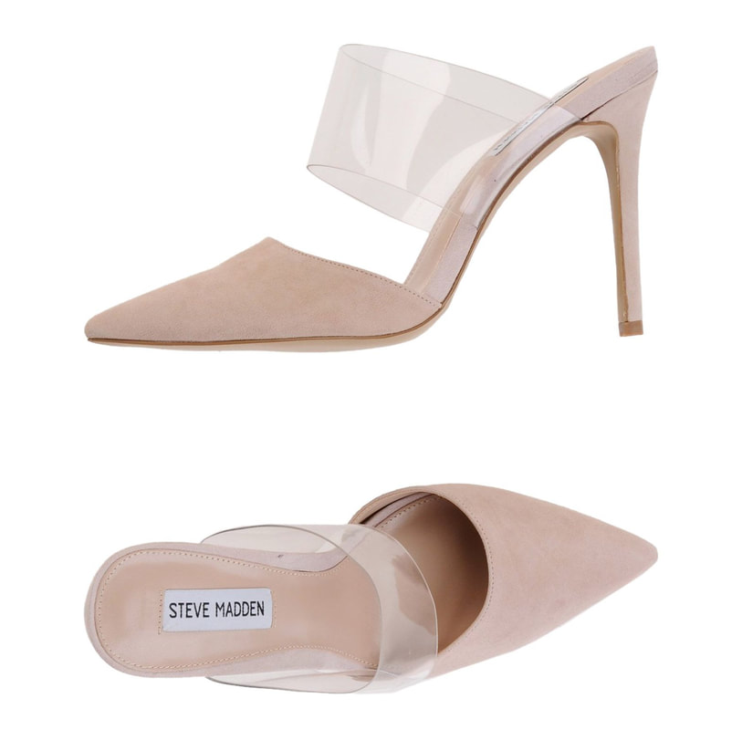 Steve Madden 'Plaza' mules in blush suede