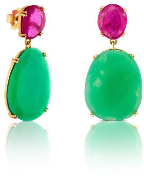 TOUS Ruby and Emerald earrings