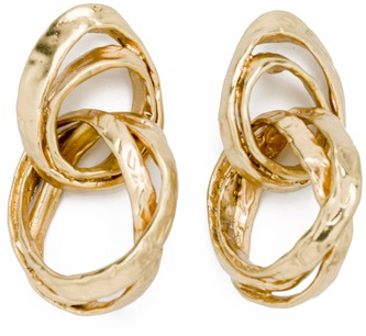 Bimba y Lola Double Hook Earrings in antique gold