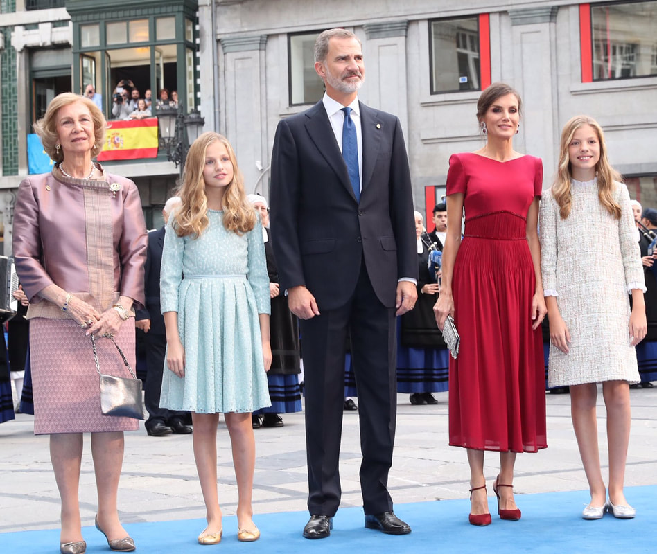 Spanish royal family walk the blue carpet ahead of 2019 Princess of Asturias Awards ceremony at the Campoamor Theater