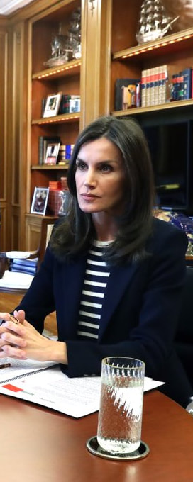 26 Mar 2020 - Queen Letizia holds video conference with Mercadona