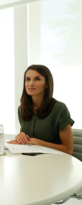 Queen Letizia attends video call with winners of FPdGi 2020 Awards on 26 June 2020