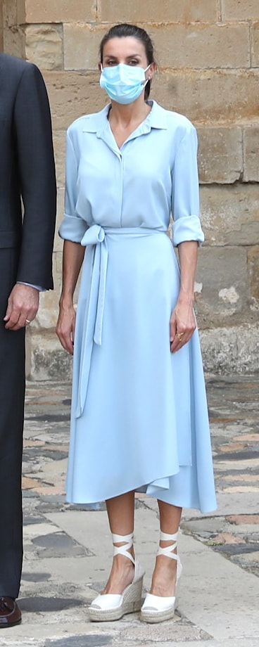 Queen Letizia visits Poblet, Catalonia on 20 July 2020