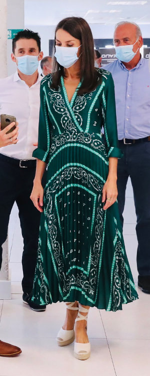 Queen Letizia visits Pamplona on 27 July 2020