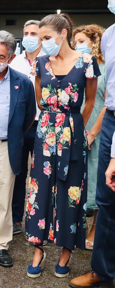 Queen Letizia visits Torrelavega and Santoña in the province of Cantabria on 29 July 2020