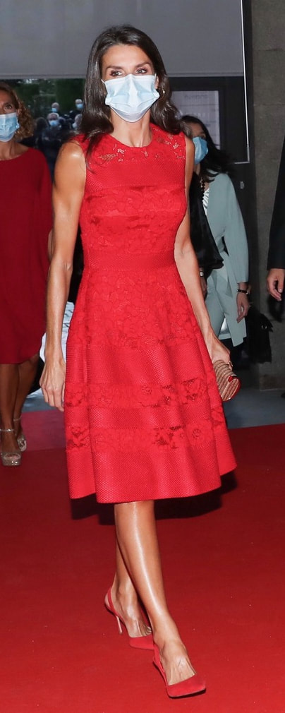 Queen Letizia attends the opening of the 24th season of the Teatro Real on 18 September 2020