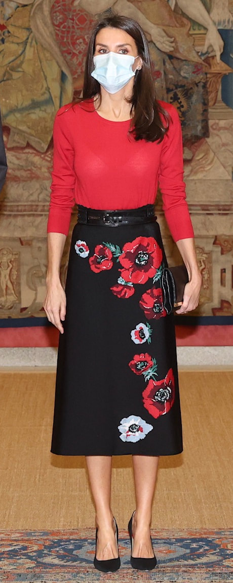 Queen Letizia attends FPdGi meeting on 11 December 2020