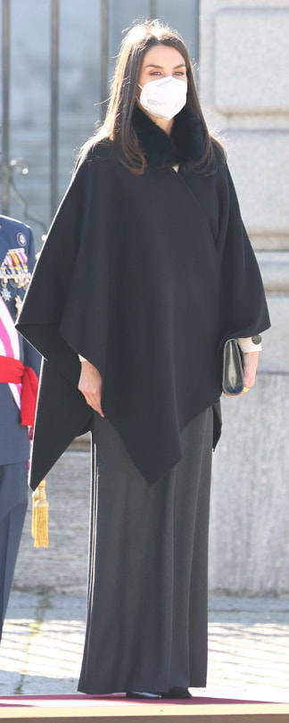 Queen Letizia attends Pascua Militar on 6 January 2021