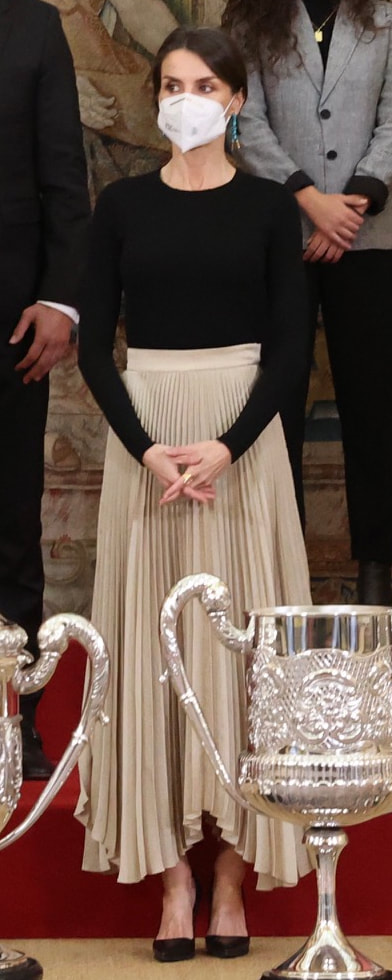 Queen Letizia attends National Sports Awards on 2 March 2021