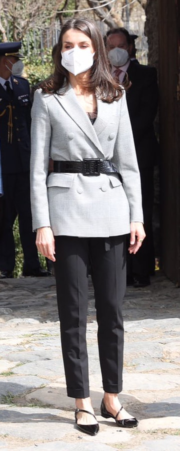 Queen Letizia on Day 2 of State Visit to Andorra 26 March 2021