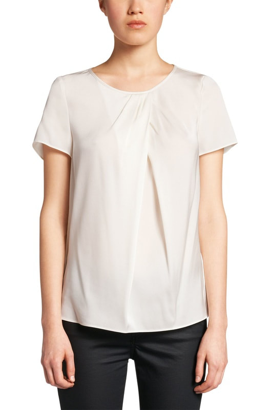 Hugo Boss 'Cylani' pleated neck blouse
