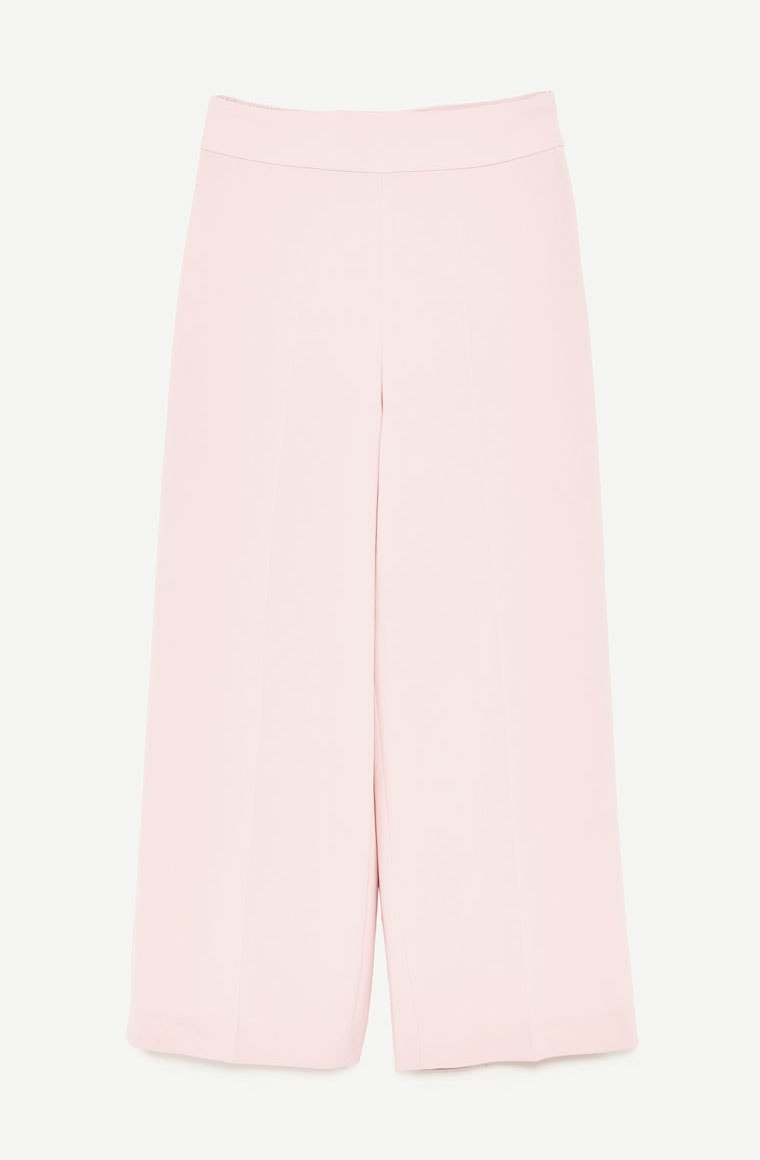 ​Zara pastel pink high-waisted trousers
