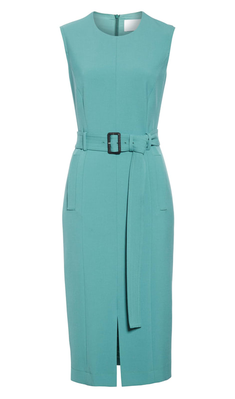 Hugo Boss Dadoria jade Sleeveless Belted Sheath Dress