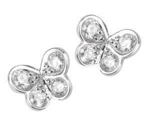 Elena C mini butterfly earrings