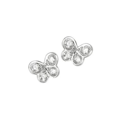 Elena C 'Mini Butterfly' diamond earrings
