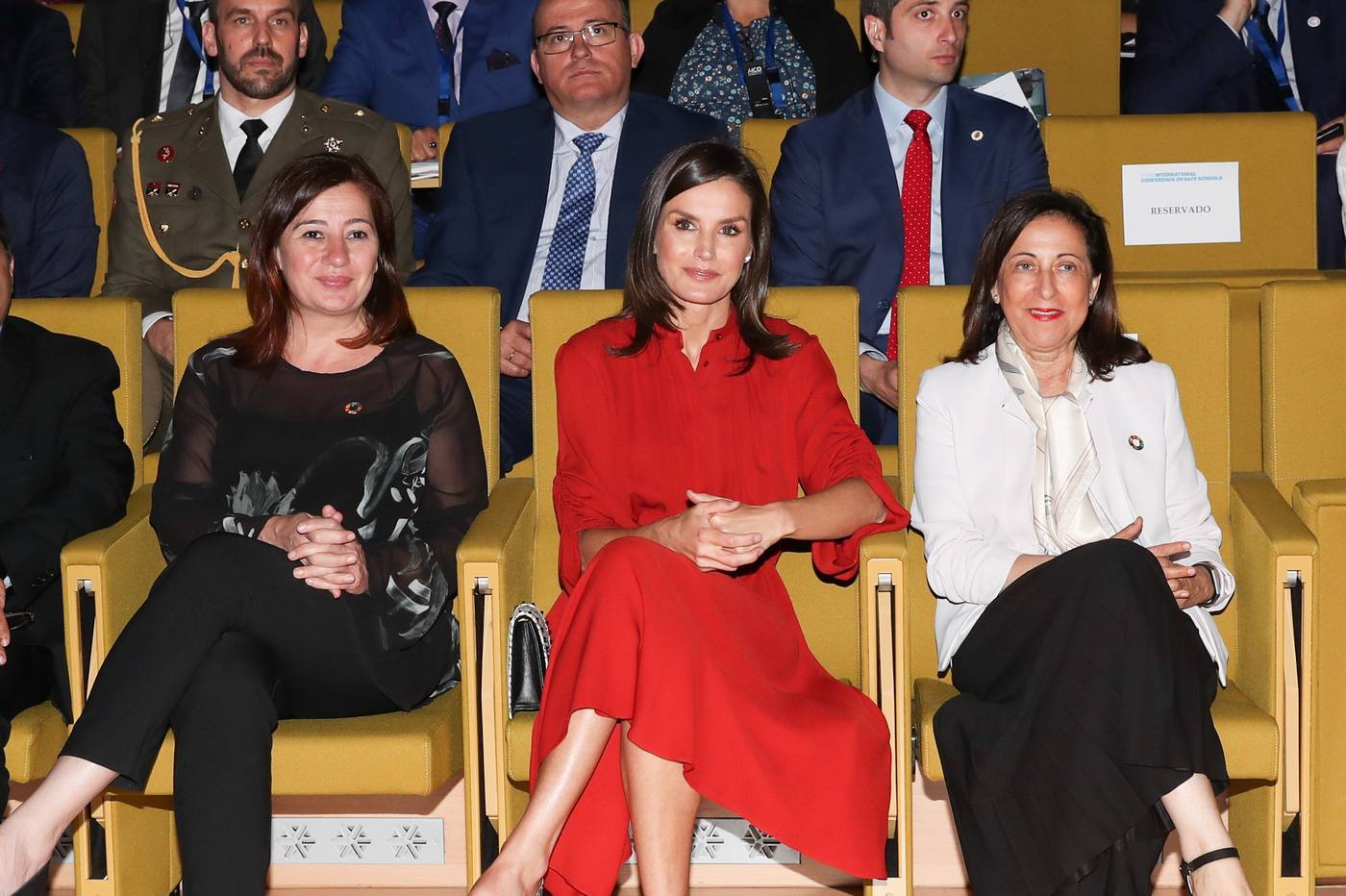Queen Letizia attends the closure of the 'International Conference On Safe Schools' in Palma de Mallorca