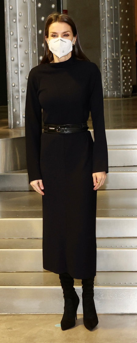 Queen Letizia attends Fundación Telefónica meeting on 21 January 2021
