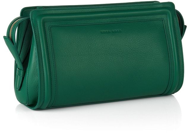 Hugo Boss Berlin green clutch bag