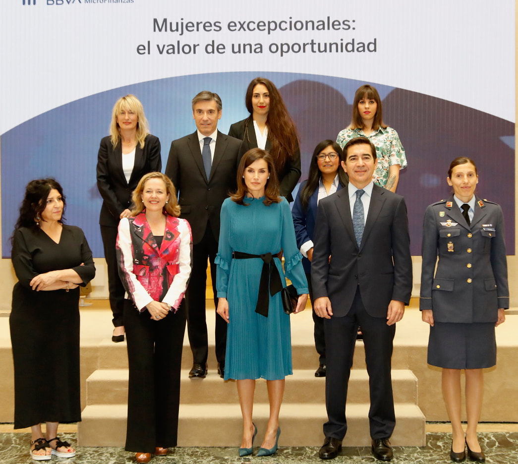 Queen Letizia attends BBVA Microfinance Foundation roundtable discussion