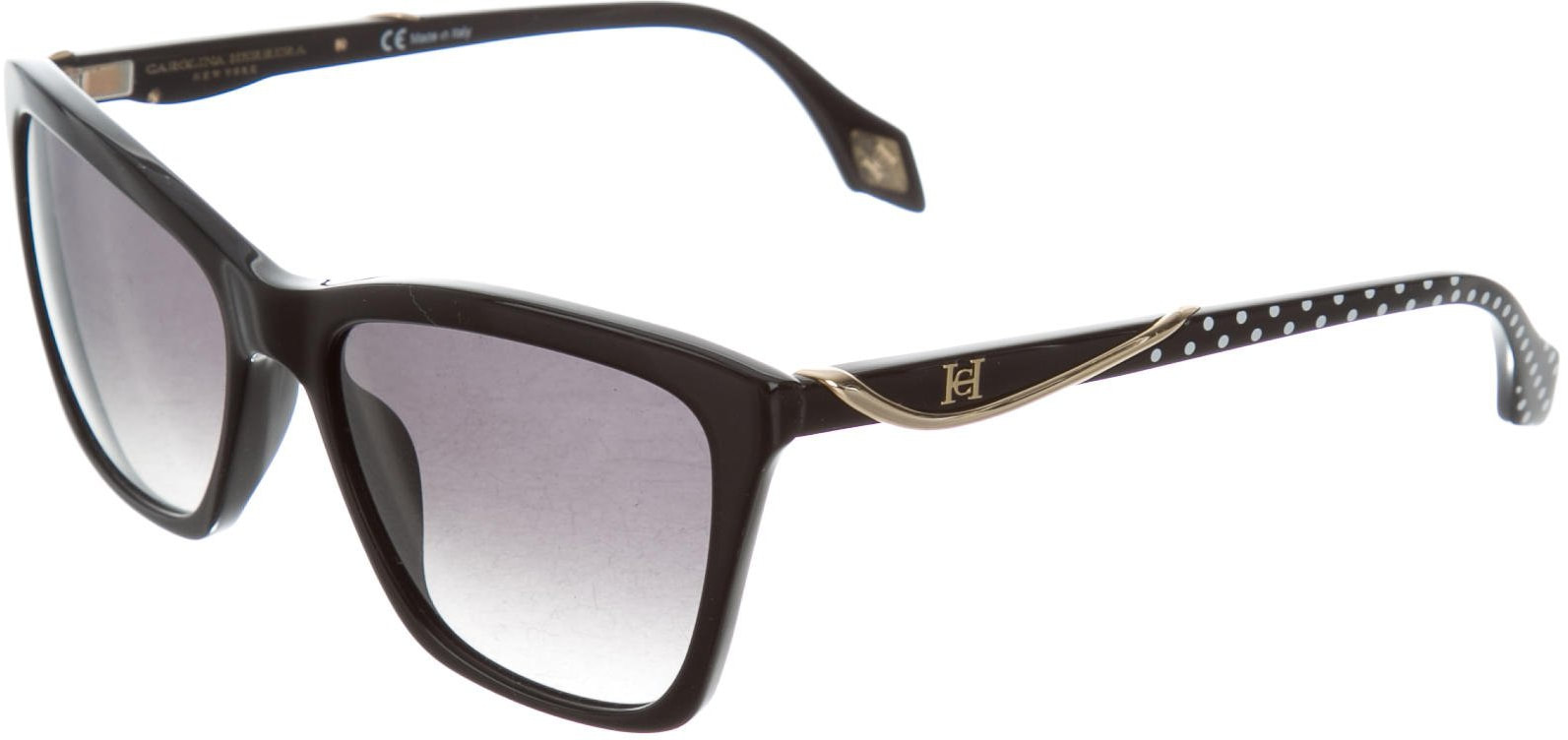 Carolina Herrera black polka dot sunglasses